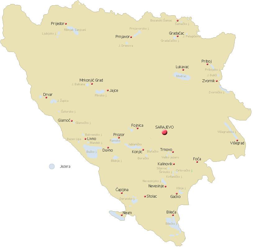 planine u bosni i hercegovini karta HIDROGRAFIJA planine u bosni i hercegovini karta