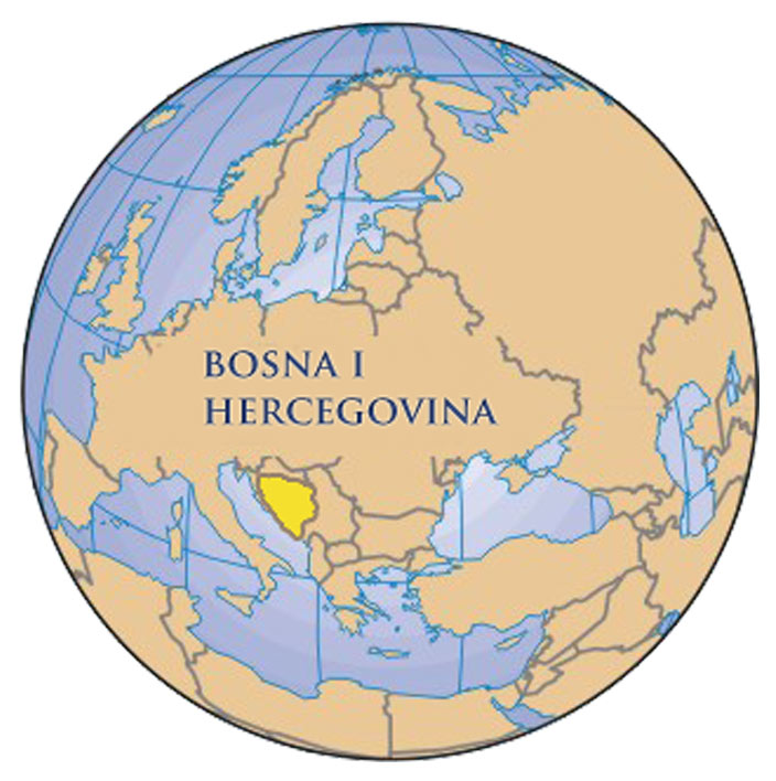 Geographical Position Of Bosnia And Herzegovina